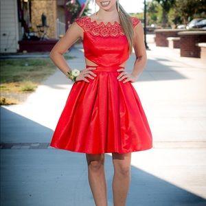 Sherri Hill Red Homecoming/Formal Dress